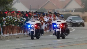 Motorcycle cops during the police processional