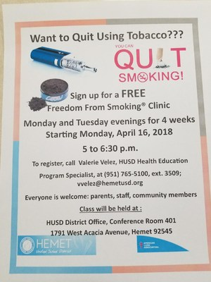 Freedom from smoking flyer