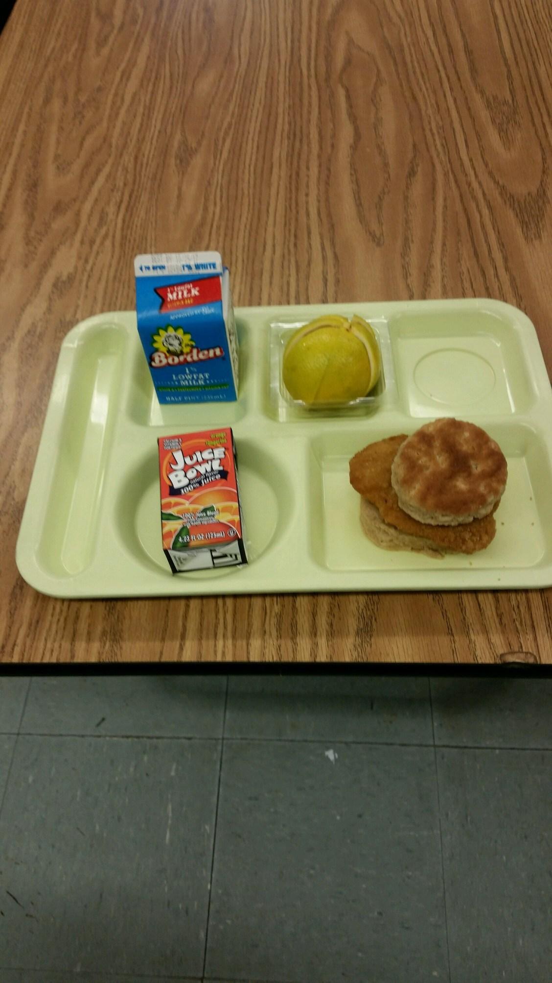 chicken sandwich breakfast tray