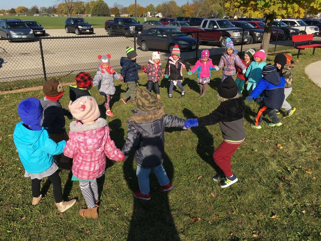 Learning Lab preschool students engage in social play