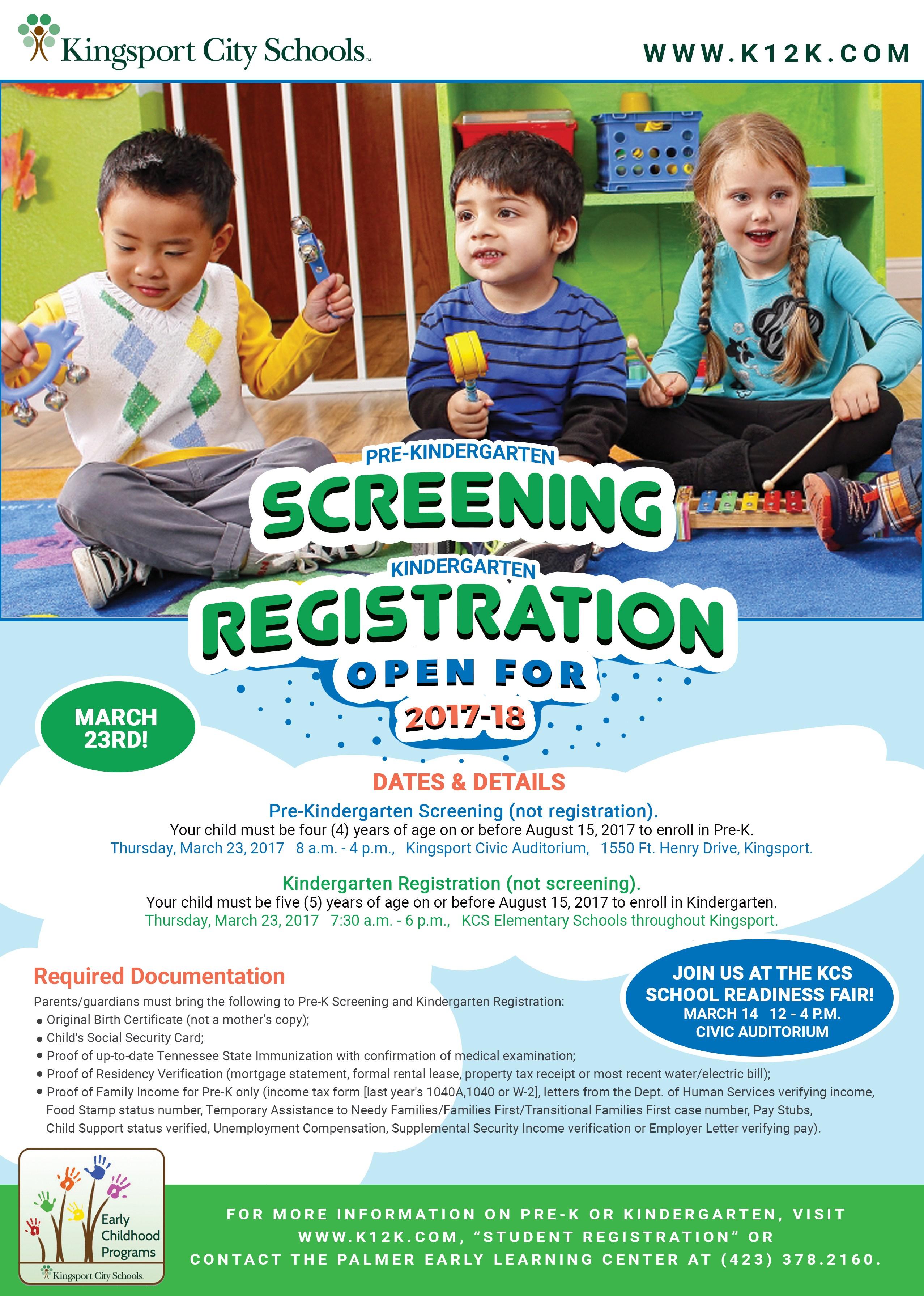 Pre-K Screening flyer