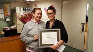Erin and Meghan at Mohan with certificate.jpg