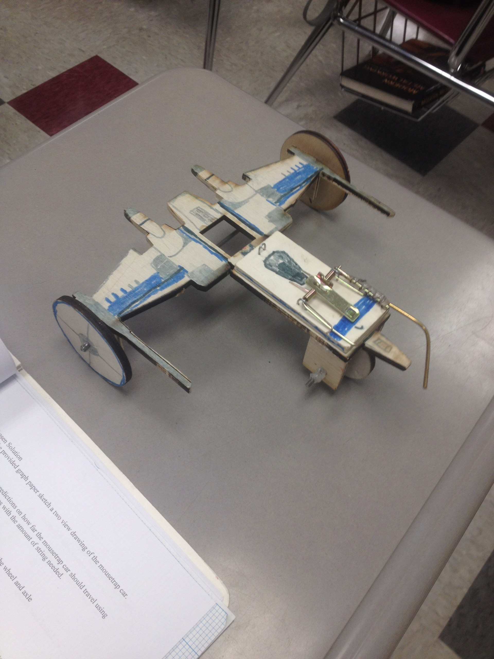Mouse Trap Powered Vehicle in Mechatronics