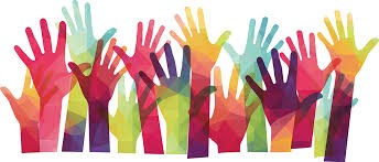hands raised in the air to volunteer