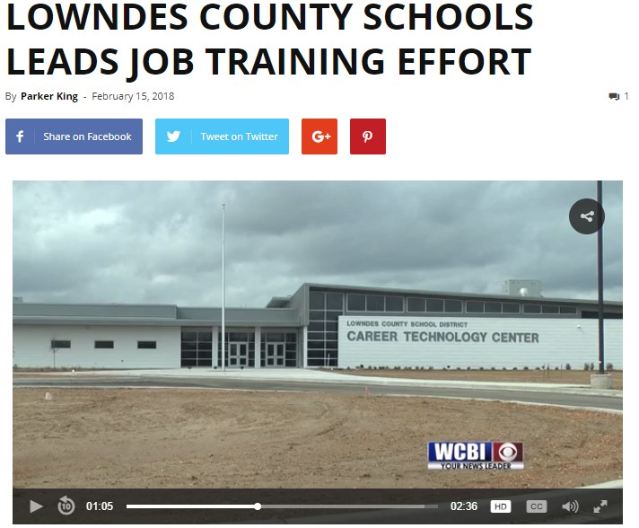 LOWNDES COUNTY SCHOOLS LEADS JOB TRAINING EFFORT Featured Photo