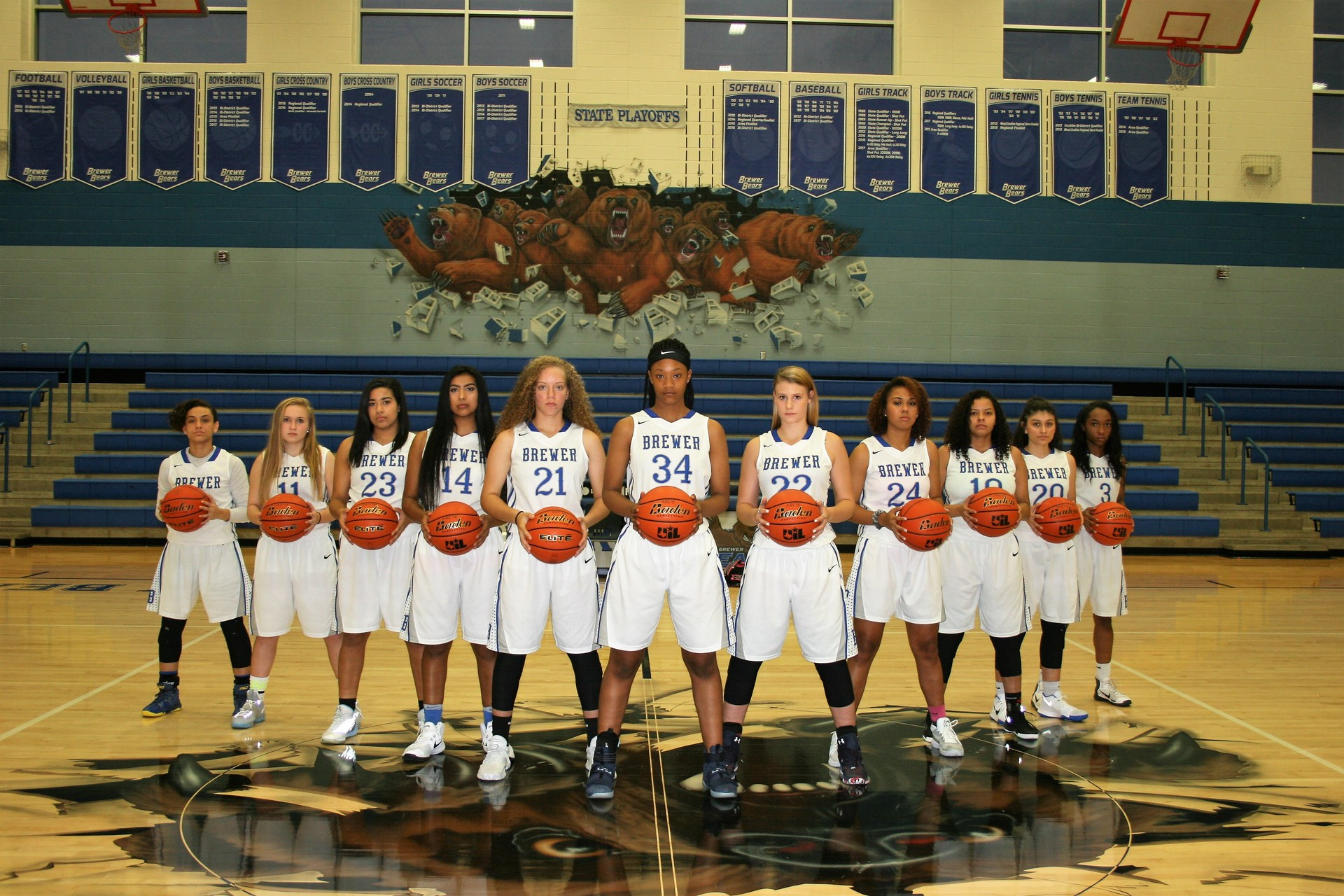 Your 2017-18 Lady Bear Varsity Basketball Team! #GoBears  #GRIT