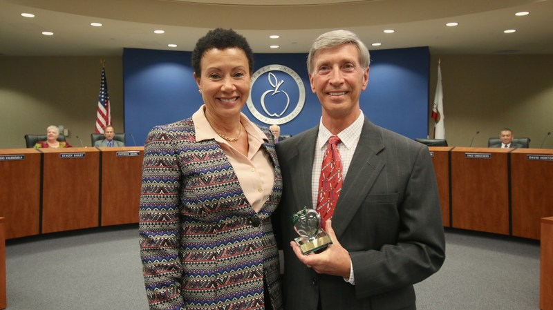 Deputy Superintendent Dr. LaFaye Platter and Dr. Walt Pleasnick
