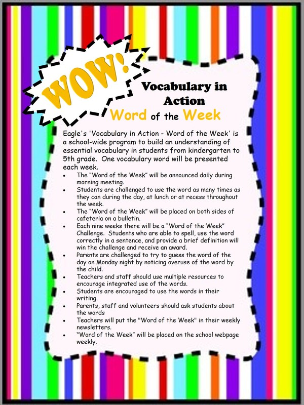 Check out this information about Word of the Week! Thumbnail Image