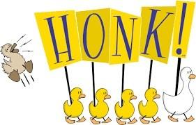 Honk! Musical logo