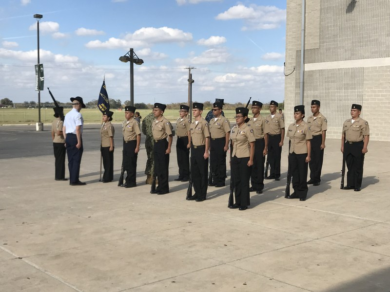 njrotc team is shown in formation