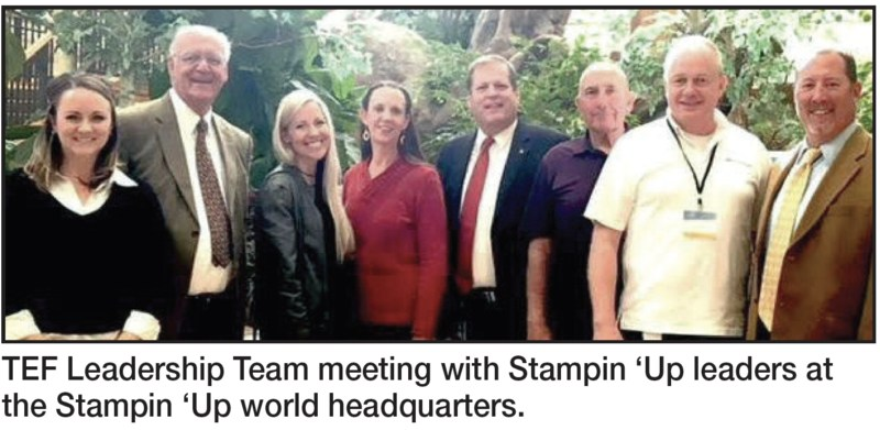 Tooele Education Foundation at the Stampin Up Headquarters