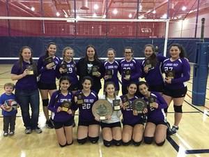 Girls JV Volleyball Takes CHSAA B/Q Title