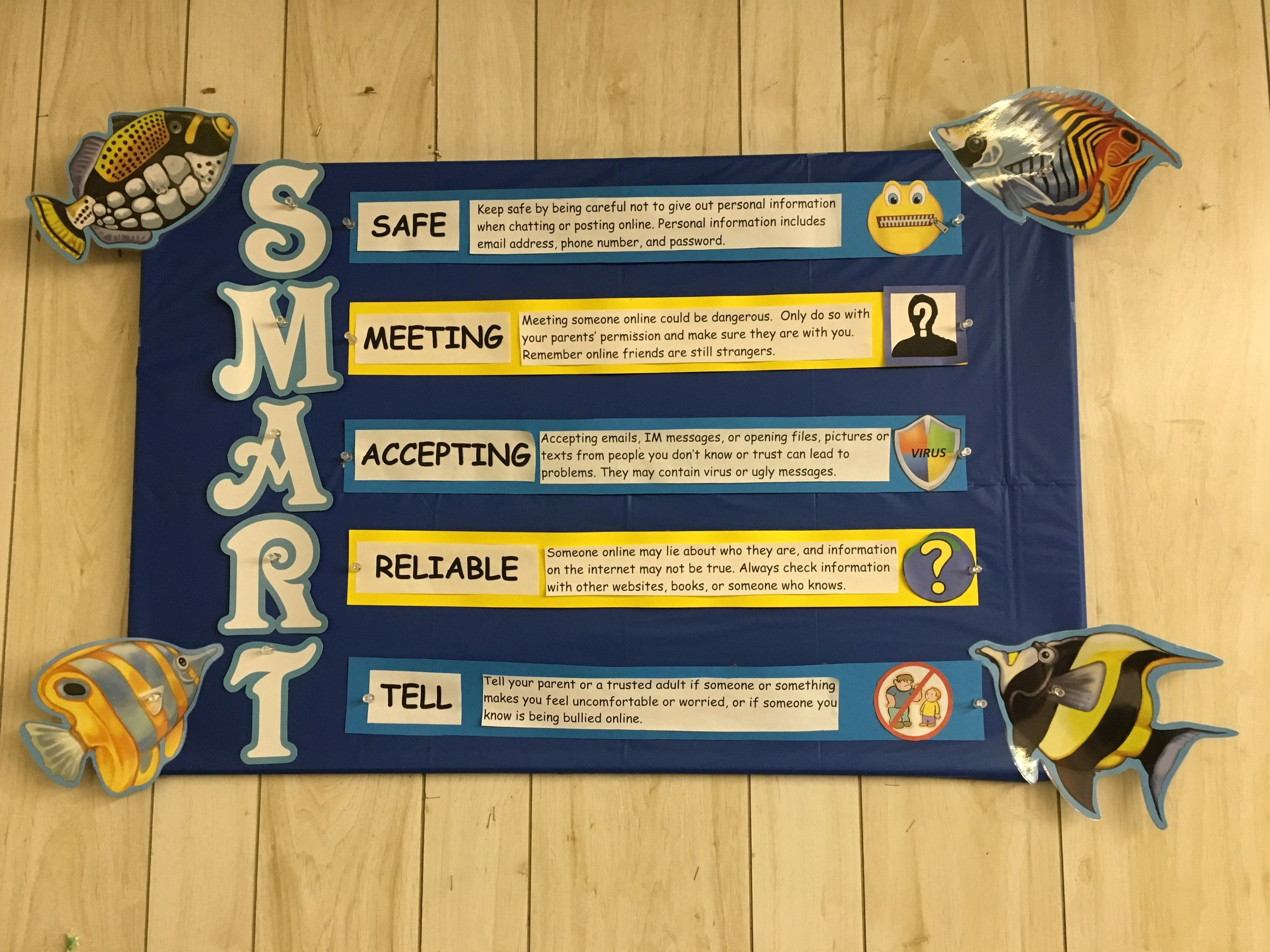 SMART bulletin board