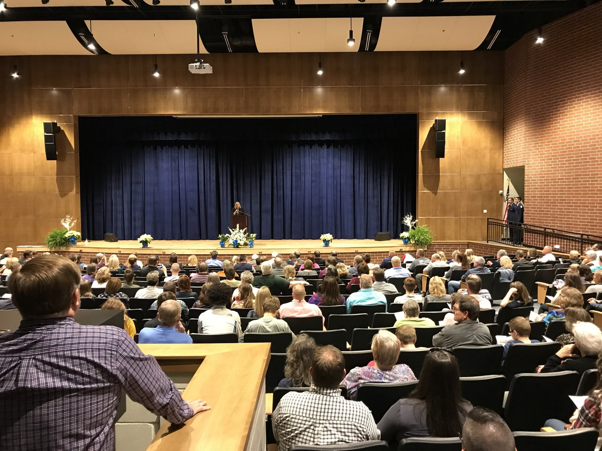People attending Oak Grove High School Dedication