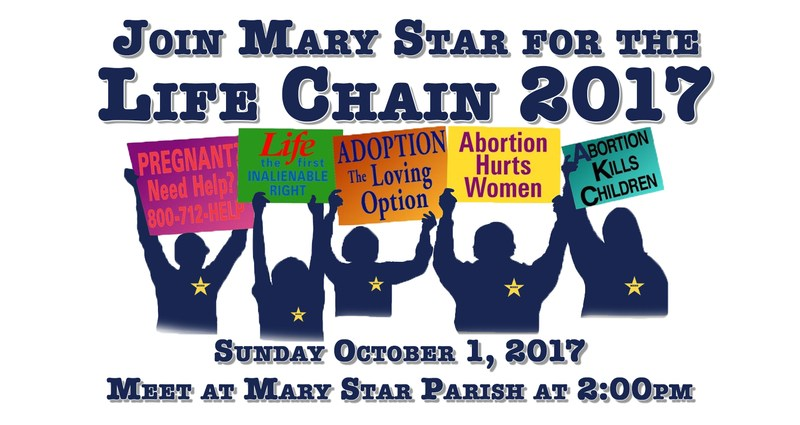 Join MSHS for the Life Chain October 1st Featured Photo