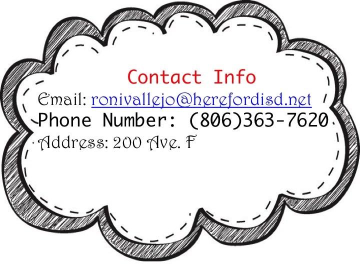 Teacher contact info