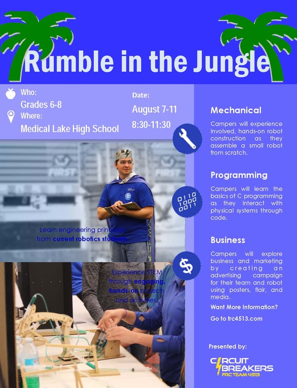 Rumble in the Jungle STEAM Robotics Camp! Thumbnail Image