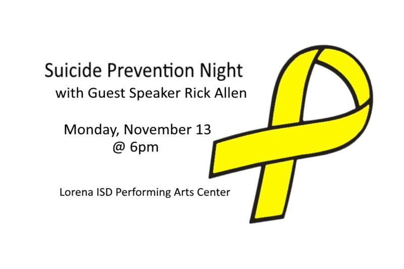 Suicide Prevention Night Details