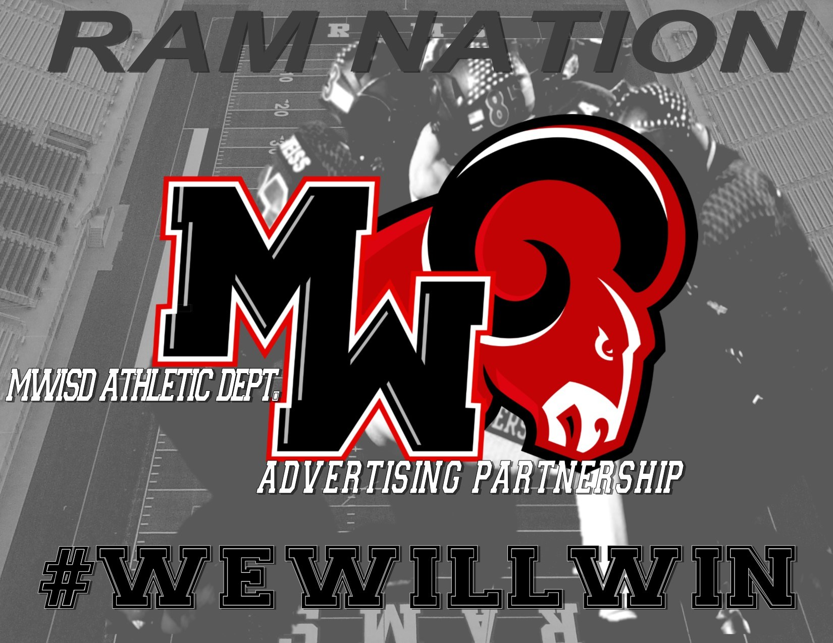 MWISD Athletic Dept advertising logo