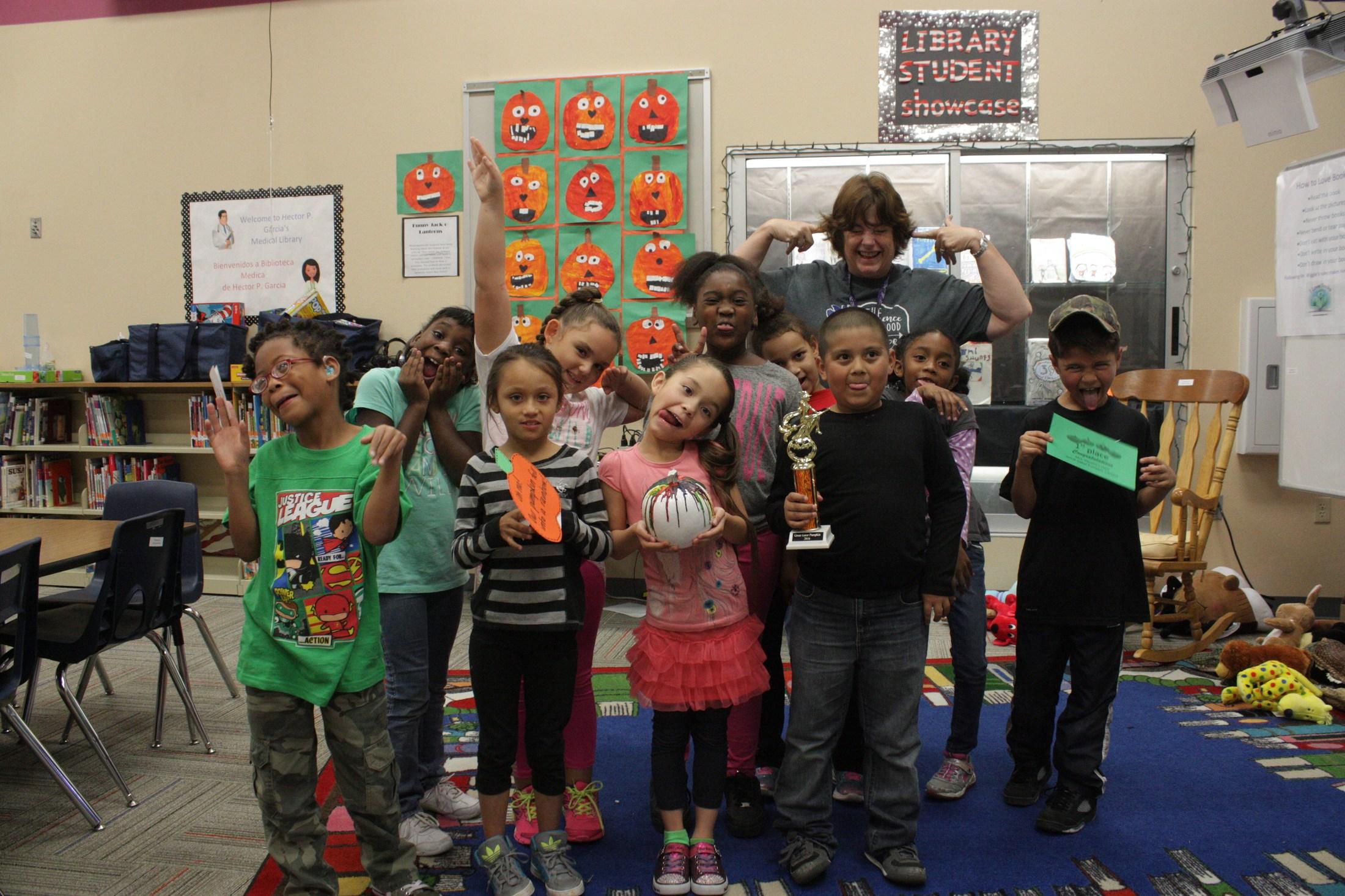 Winners for pumpkin contest!