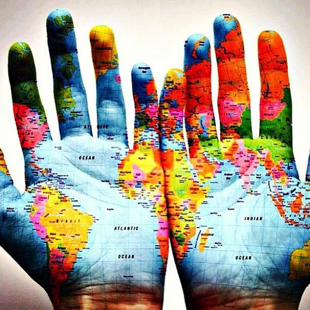 Hand globe