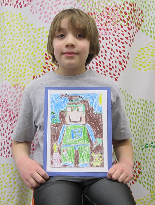 3rd Graders Prepare for Art Show Thumbnail Image