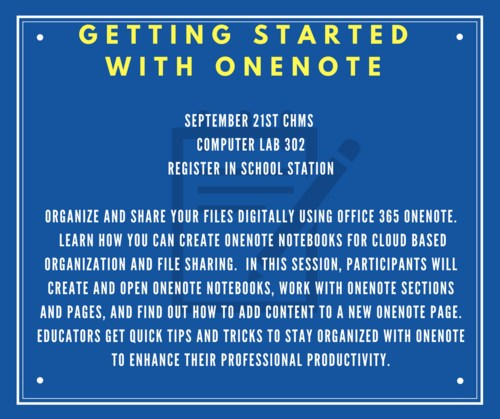 Getting started with OneNote PD announcement.
