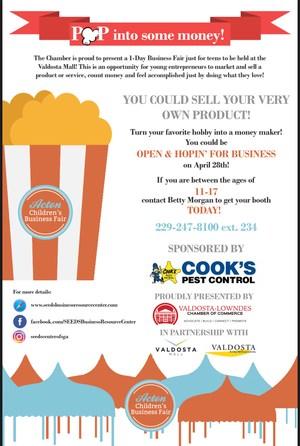 Acton Children's Business Fair Flyer