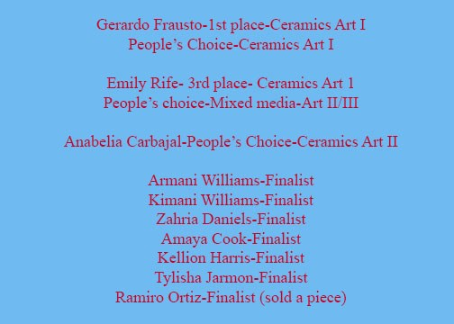 Congratulation to Students for Outstanding Work of Art Thumbnail Image
