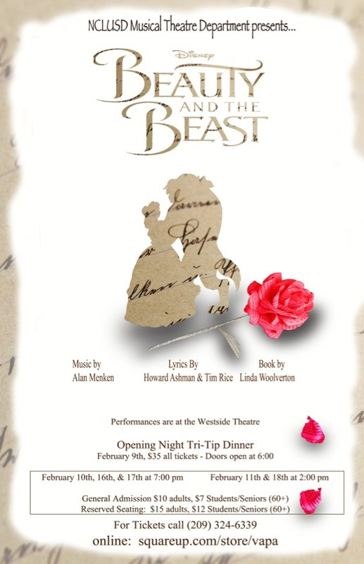 Beauty and the Beast NCLUSD Drama Production
