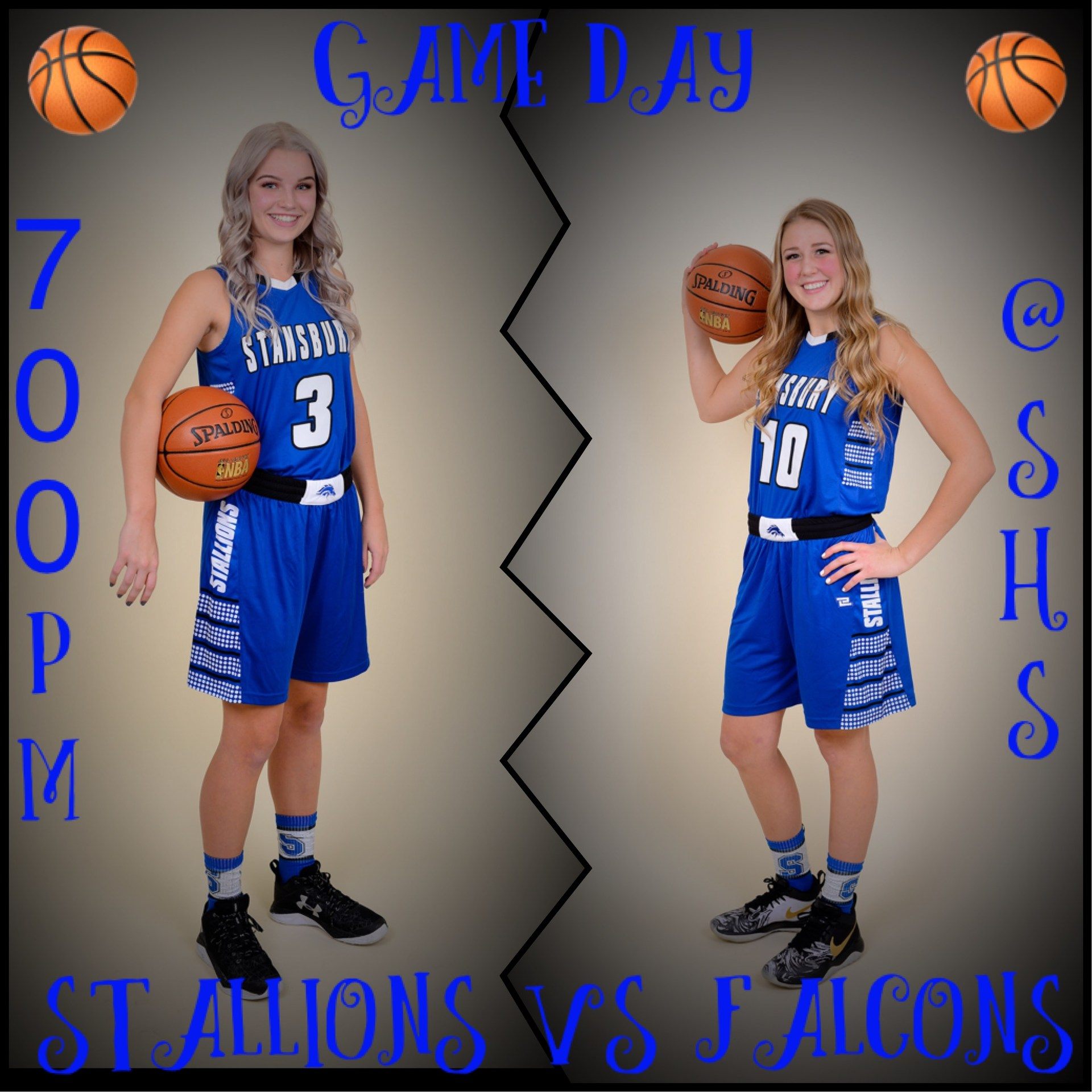 SHS Girls Basketball game poster 11/21/2017