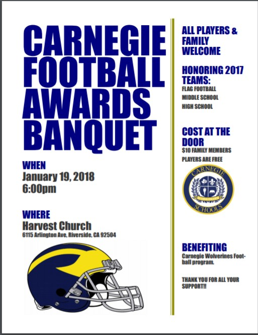 Carnegie Football Awards Banquet Featured Photo