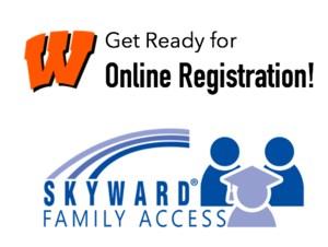 WCS Online Registration Sign