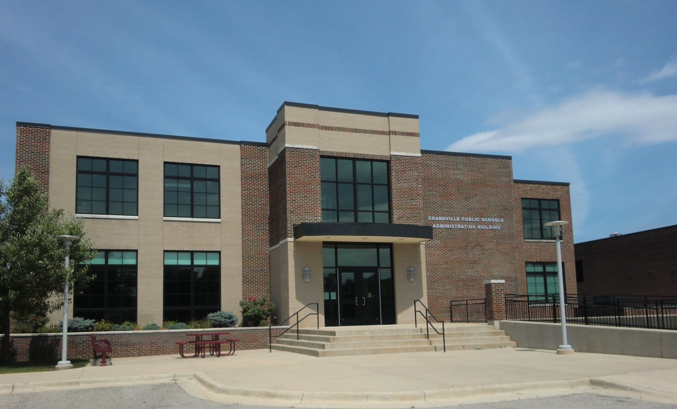 exterior of Administration building