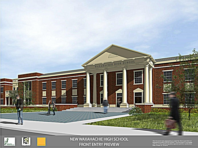 front of high school drawing
