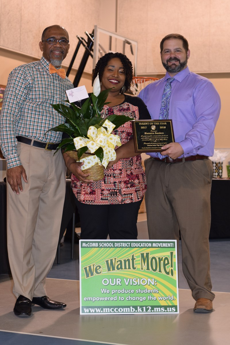 Denman Junior High Parent of The Year Awardee.