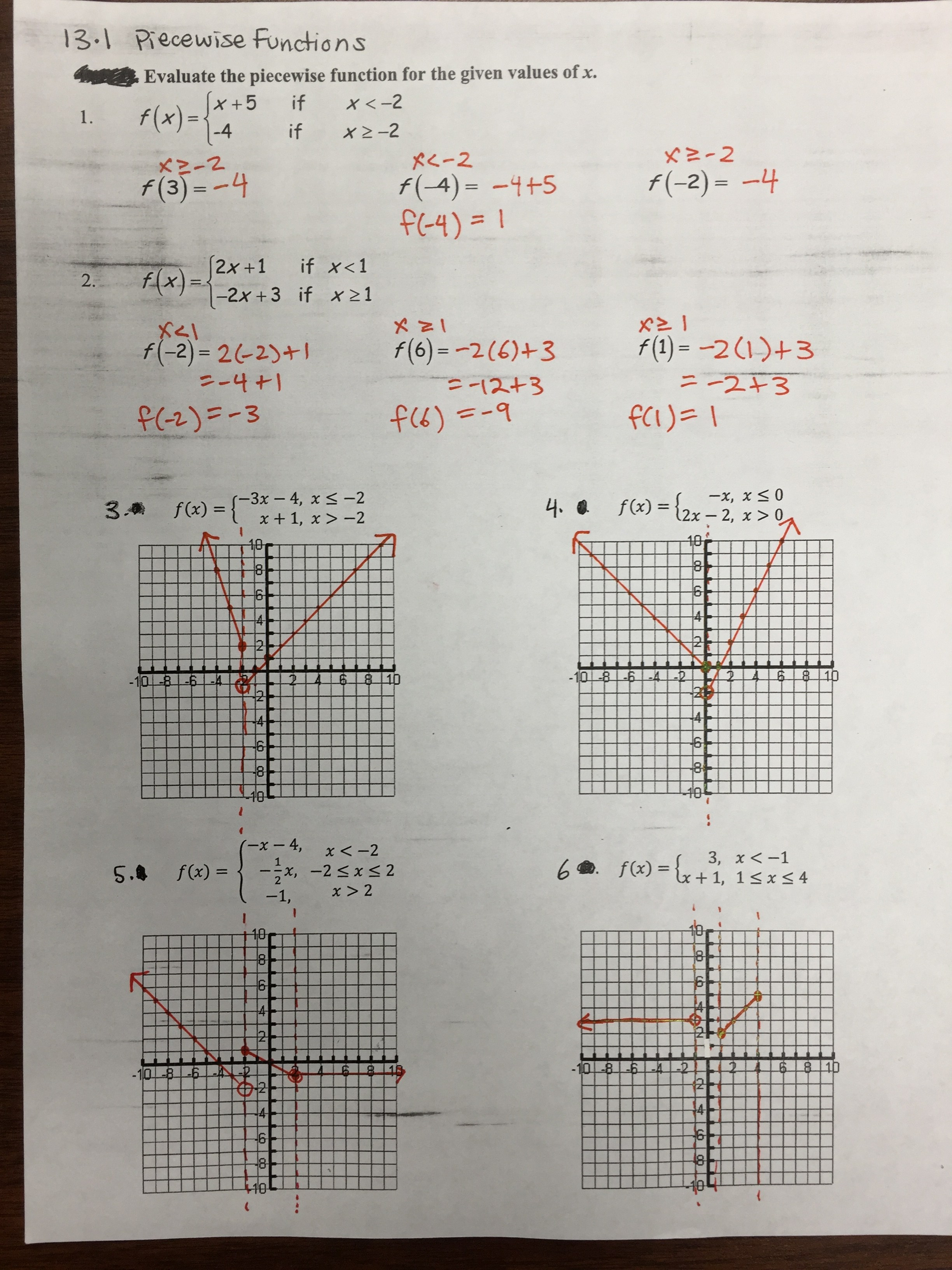 Worksheets Worksheet Piecewise Functions Answers worksheet piecewise functions answers fun south pasadena high school jpg 13 1 practice solutions jpg