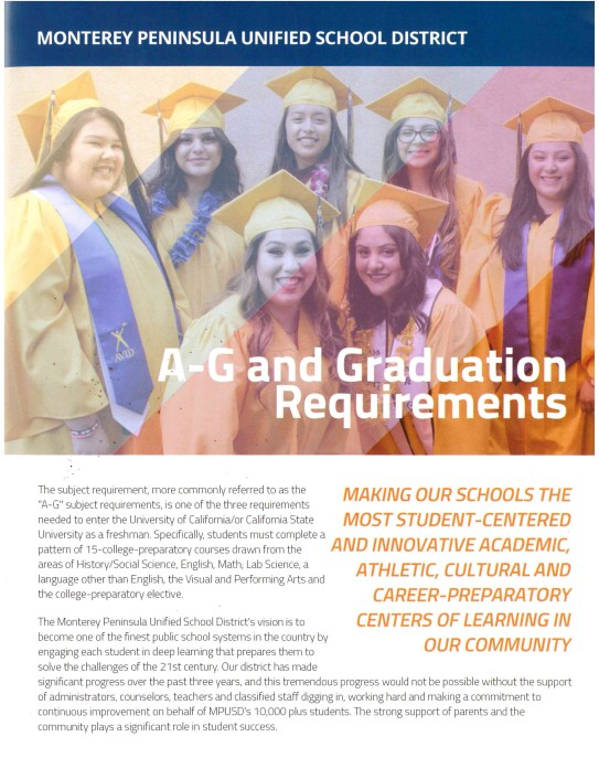 A-G Graduation Requirements, page 1