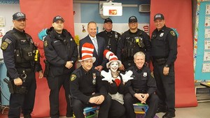 Union City Police with Cat in Hat