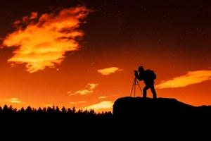 Photographer image at night