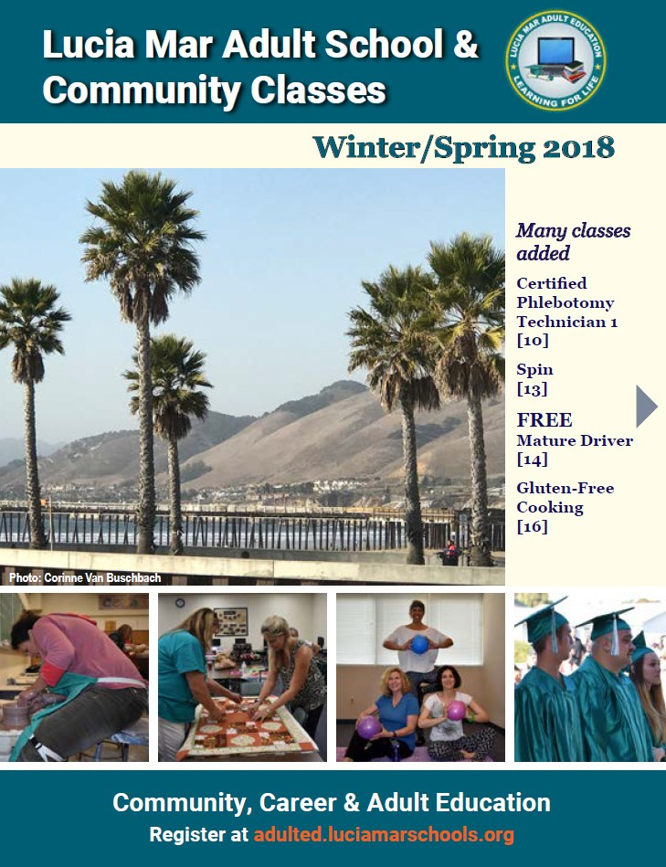 2018 Winter/Spring Brochure Schedule of Classes