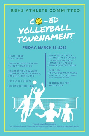 Co-Ed Volleyball Tournament March 23