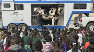 Students at a Dairy Presentation