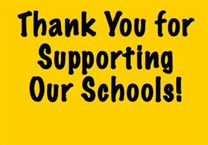 Thank You For Supporting Our Students and Schools Thumbnail Image