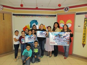 Mrs. S. Salazar and Mrs. G. Valadez with students