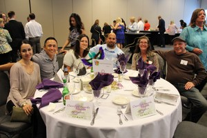 Classified employees enjoy each other's company at the 2016 banquet.