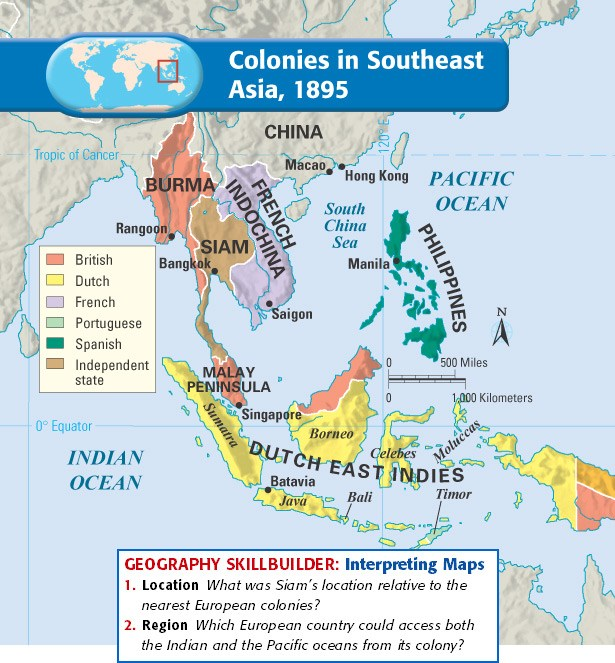 Map Of Asia During Imperialism.Northwest High School