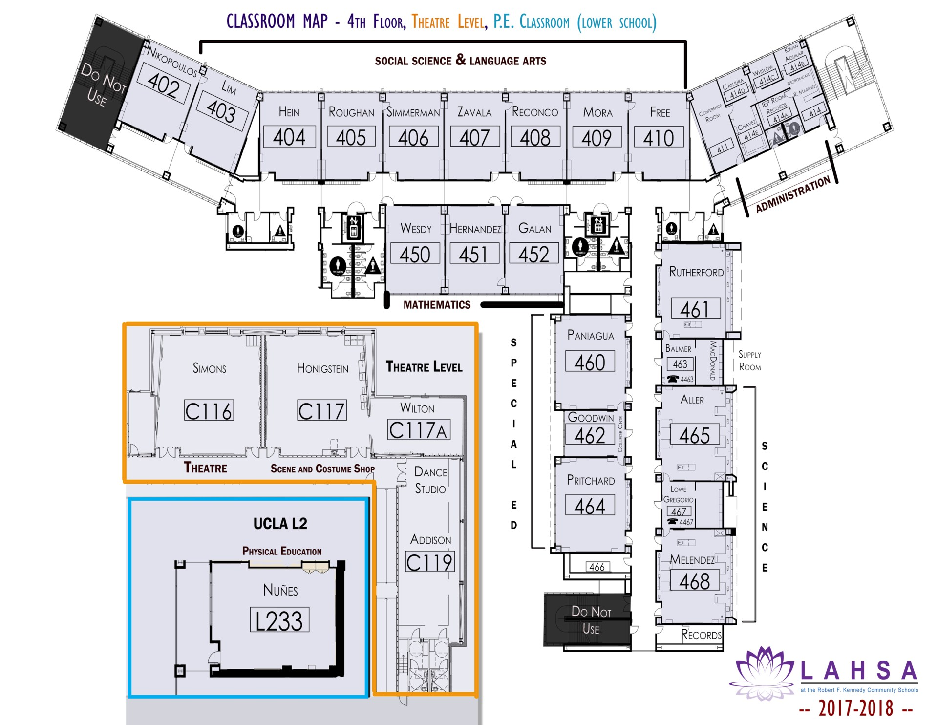 Map of LAHSA Classrooms