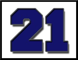 Image of the Number 21 for countdown to graduation