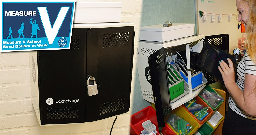 CLASSROOM iPad CHARGING and STORAGE LOCKERS, Measure 'V' summer project 2017
